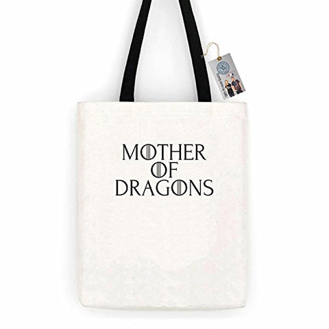 Game of Thrones Mother of Dragons Cotton Canvas Tote Bag Carry All Day Bag