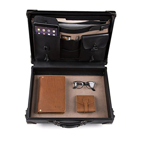 Saddleback Leather Hardside Briefcase - 100% Full Grain, Hard Shell Executive Leather Briefcase with 100 Year Warranty.
