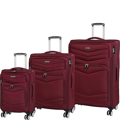 it luggage Intrepid 8-Wheel Lightweight 3-Piece Set, Dark Red