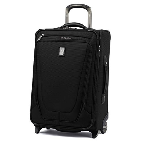 "Travelpro Luggage Crew 11 22"" Carry-on Expandable Rollaboard w/Suiter and USB Port, Black"