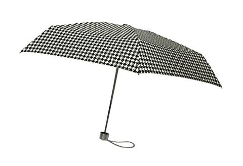 London Fog Ultra Mini Manual Umbrella,  Houndstooth