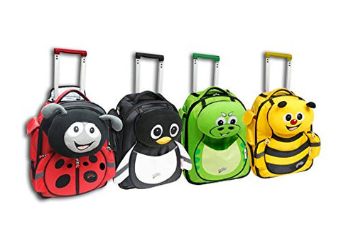 <Graceorchid>Cuties And Pals Carry-On Trolley Luggage + Pillow - Penguin