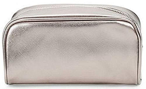Saks Fifth Avenue Textured Zip Pouch Charcoal Makeup Bag