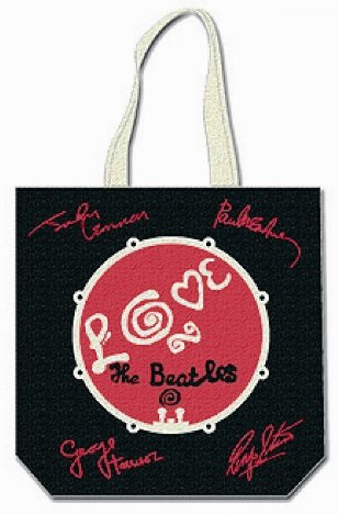 The Beatles Love Drum With Signatures Tote Bag.