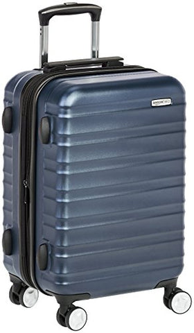 AmazonBasics Premium Hardside Spinner Luggage with Built-In TSA Lock - 20-Inch Carry-on, Navy Blue