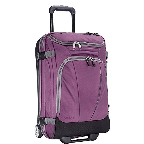 "eBags TLS Mother Lode Mini 21"" Wheeled Duffel Bag Luggage - Carry-On - (Eggplant)"