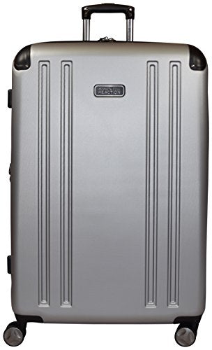 "Kenneth Cole Reaction 8 Wheelin Expandable Luggage Spinner Suitcase Medium 25"" (Light Silver)"