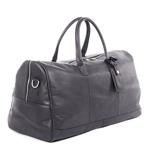 Bugatti Sartoria Duffle Bag, Top Grain Leather, Black