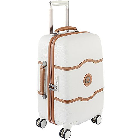 Delsey Luggage Chatelet Hard+ 21 Inch Carry On 4 Wheel Spinner, Champagne