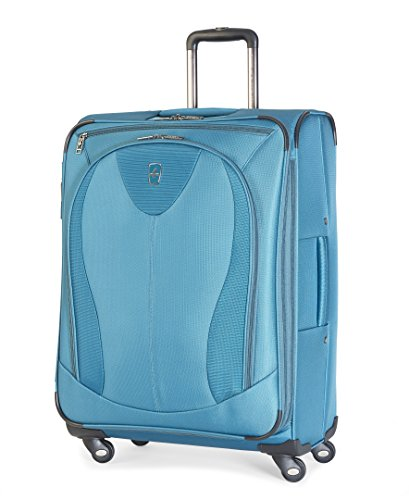 "Atlantic Luggage Ultra Lite 3 25"" Expandable Spinner, Turquoise"