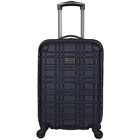 "Ben Sherman Nottingham 20"" Embossed PAP 4-Wheel Upright Carry-On in Navy"