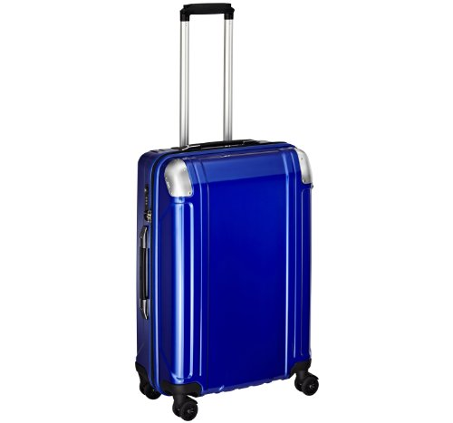 Zero Halliburton Geo Polycarbonate 24 Inch 4 Wheel Spinner Travel Case, Blue, One Size