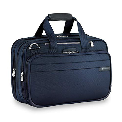 Briggs & Riley Expandable Cabin Bag Overnight Duffle, Navy, One Size