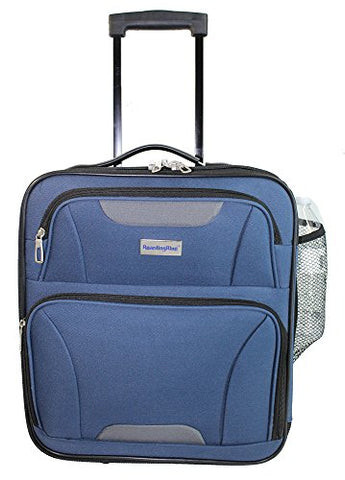 Boardingblue Small Personal Item Under Seat Luggage  16.5 (Navy)