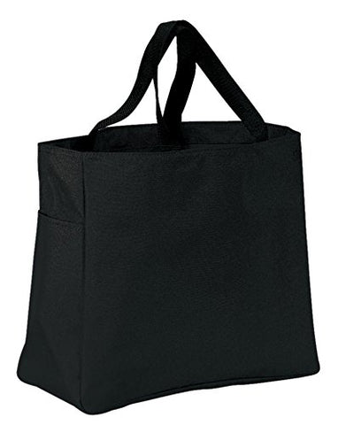 Port & Company Luggage-And-Bags Improved Essential Tote Osfa Black