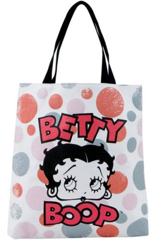 Betty Boop Circles Tote Bag By Vandor Lyon Company - Distressed Face Close-Up