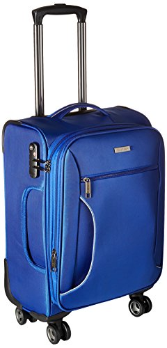 Calvin Klein Warwick 21 Inch Upright Carry-On Suitcase, Blue, One Size
