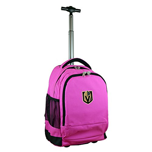 Nhl Vegas Golden Knights Expedition Wheeled Backpack, 19-Inches, Pink