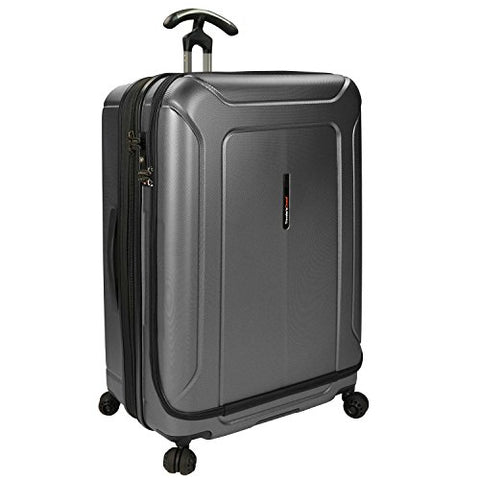 Traveler'S Choice Barcelona Polycarbonate Hardside Expandable Front Opening Spinner Luggage -