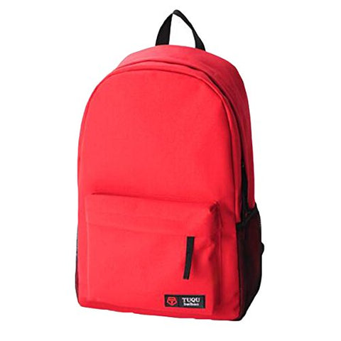 "ABage Women's 15"" Laptop Casual Daypack Hiking Travel College School Backpack Book Bag, Red"