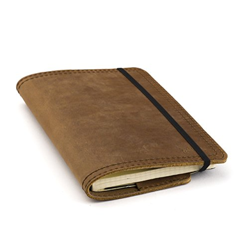Saddleback Leather Moleskine Cover - The Best Quality, Full-Grain Leather Journal Covers For Small and Medium Moleskines - 100 Year Warranty