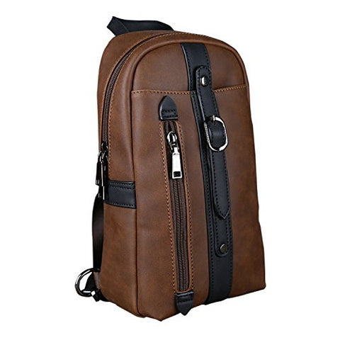 Tidog The New Chest Han Edition Leisure Trend Crazy Horse Leather Men'S Chest Bag