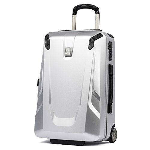 "Travelpro Luggage Crew 11 22"" Carry-on Slim Hardside Rollaboard w/USB Port, Silver"