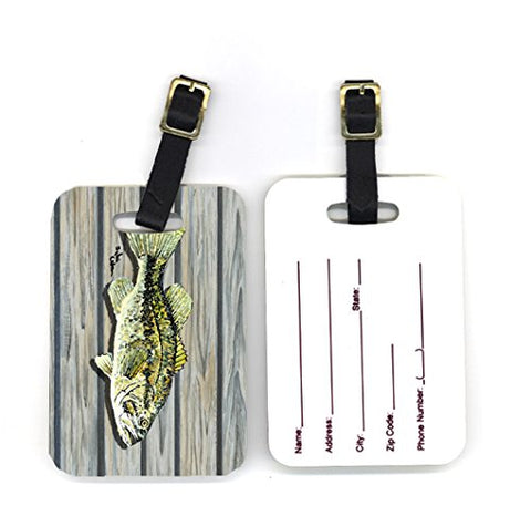 Carolines Treasures 8493Bt 4 X 2.75 In. Pair Of Fish Bass Small Mouth Luggage Tag