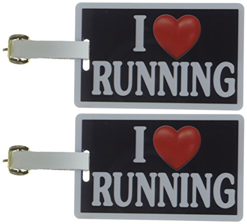 Tag Crazy I Heart Running Two Pack, Black/White/Red, One Size
