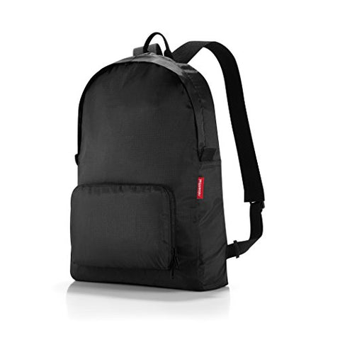 reisenthel Mini Maxi Rucksack, Foldable Travel Backpack with Built-in Carrying Pouch, Black