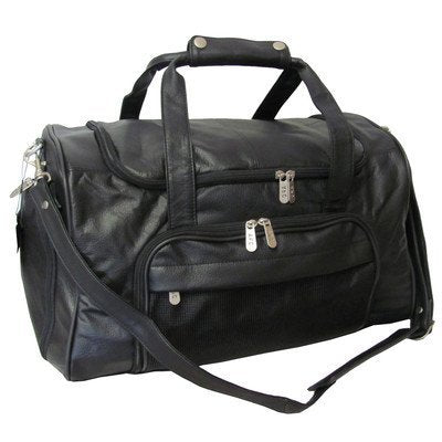 Amerileather APC Leather Duffel/Sports Bag,Black,US
