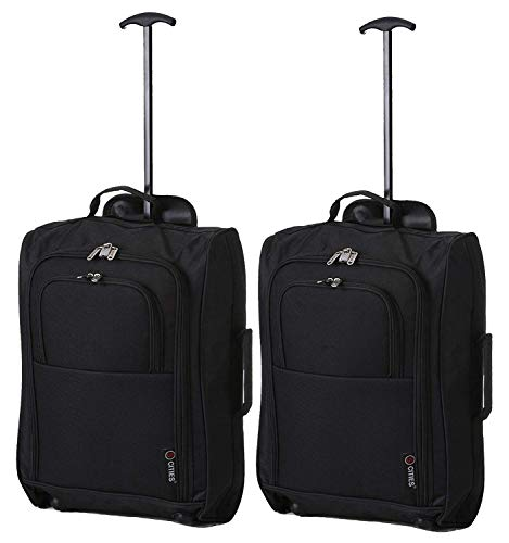 x2 Carry On Delta United Southwest etc - CarryOn Bag Travel Suitcase Luggage Set
