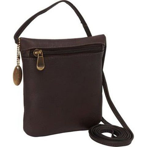 David King & Co. Top Zip Mini Bag 507, Café, One Size