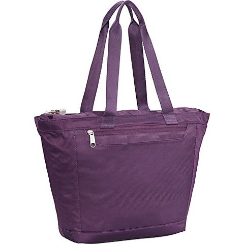 eBags Metro Travel Tote Bag with RFID Security for Women - 12-inch - Carry-On - (Aubergine)