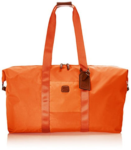 Bric's Luggage BXG30202 22 Inch Folding Duffel and Crossbody Bag, Orange Melon, One Size