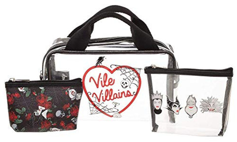 Disney Vile Villains 3 Piece Cosmetic Makeup Travel Kit