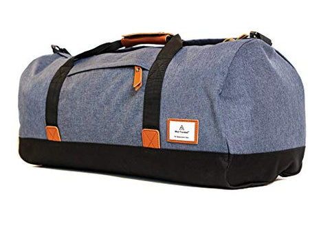 Well Traveled Canvas Duffel Bag - Carry on Bag, Weekender Bag, and Overnight bag for Travel
