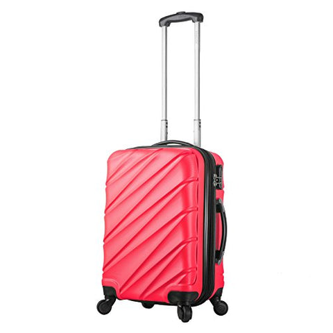 "Viaggi V1015L-22In-Pnk Italy Lodi Hardside Spinner 22"" Carry-On, Pink"
