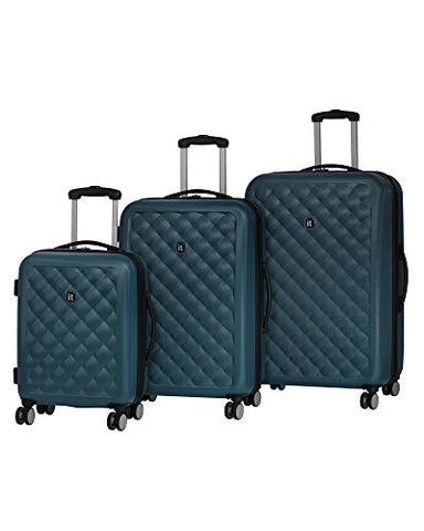 It Luggage Cushion-Lux 3 Piece Luggage Set Hardside 8 Wheel Expandable Spinner, Legion Blue
