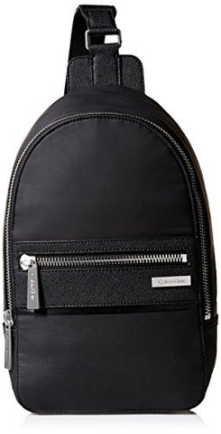 Calvin Klein Men's Coated Nylon Sling, black