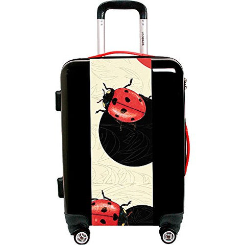 "Ugo Bags Lady Bug Polka Dot By Paula Bella Flores 26.5"" Luggage (Black)"