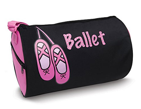 Dansbagz By Danshuz Girl'S Rhinestone Ballet Duffel Bag, Black, Hot Pink, Os