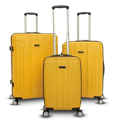 Gabbiano Viva 3 Piece Expandable Hardside Spinner Luggage Set (Yellow)