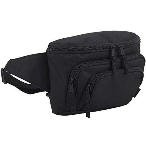 FUEL Signature Triple Pocket High Capacity Belt Bag, Fanny Pack (Expandability Min. 34 in - Max.