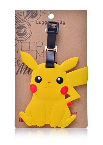 Reindear Heavy Duty Baggage Luggage Tag Us Seller (Pokemon Pikachu)