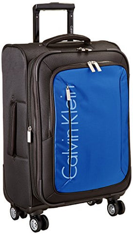 "Calvin Klein Tremont 21"" Upright Carry-on Suitcase, Blue"
