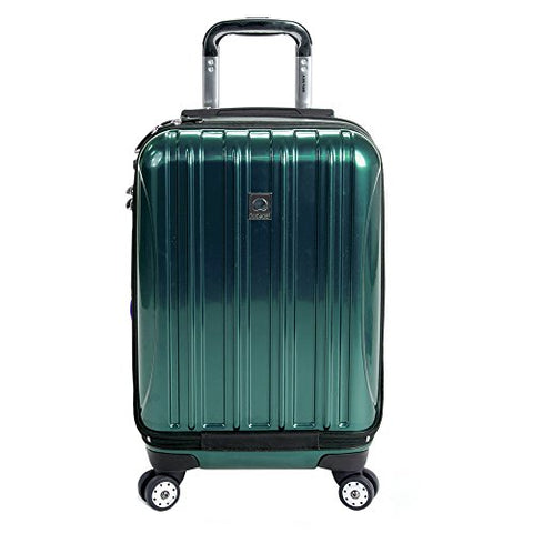 DELSEY Paris Delsey Luggage Helium Aero International Carry On Expandable Spinner Trolley 19\ (Teal)
