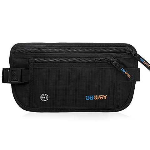 Travel Hidden Money Belt - RFID Blocking Travel Money Belt Waist Passport Wallet