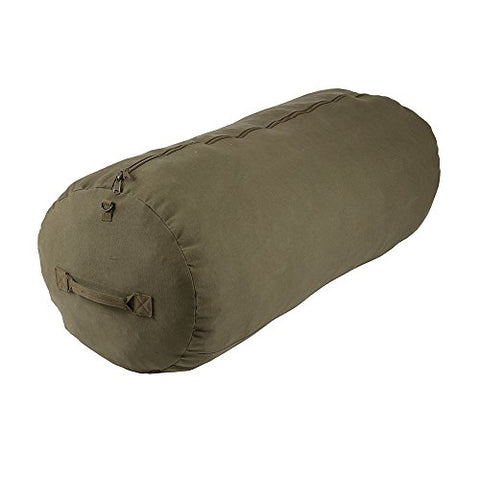 "Deluxe Duffel Bag w/Zipper, Olive Green - 50""X18""X18"""