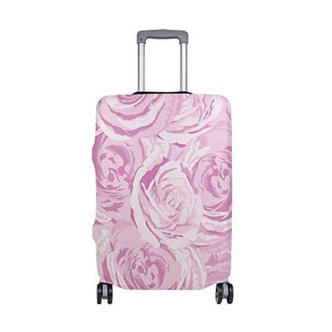 GIOVANIOR Pink Roses Luggage Cover Suitcase Protector Carry On Covers